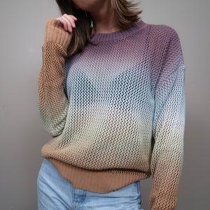 BNWT spiritual gangster ombré knit sweater